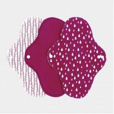 Imse Vimse  hygienické vložky z  bioflanelu fialové   Normal
