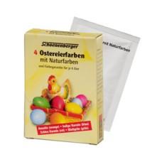 Barvy na vajíčka  přírodní Schoenenberger - 4 barvy