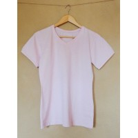 Dámské tričko biobavlna  krátký  rukáv růžové