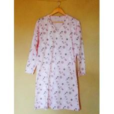 Dámská noční košile růžová - dlouhý rukáv vel. L