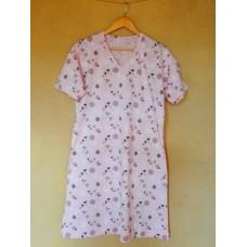 Dámská noční košile růžová  - krátký rukáv vel. M a L