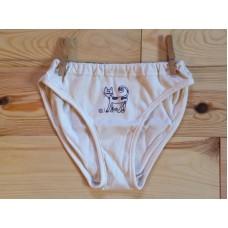 Dívčí spodní kalhotky s kočičkou ve fialové   nižší pas
