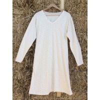 Dámská noční košile hvězdičky - dlouhý rukáv