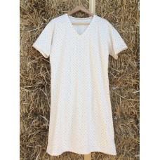Dámská noční košile hvězdičky - krátký rukáv