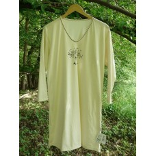 Dámská noční košile dlouhá biobavlna s obrázkem vel. L