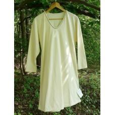 Dámská noční košile dlouhá biobavlna v hnědém vel. M