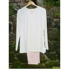 Dámské pyžamo z biobavlny v proužku vel. XL - doprodej vzoru