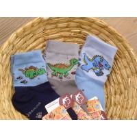 Dětské  ponožky biobavlna s dinosaurem - doprodej