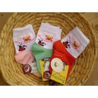 Dětské  ponožky biobavlna s motýlkem