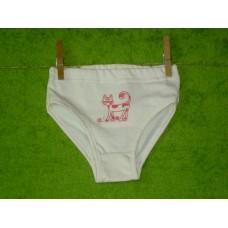Dívčí kalhotky biobavlna  s kočičkou v malinové  vel. 122