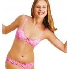 Dívčí podprsenka Key bez kostic vel. 75AA růžová
