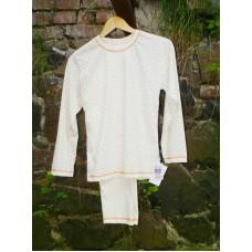 Dívčí pyžamo biobavlna barevné hvězdičky