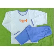 Dívčí pyžamo biobavlna s rybkou