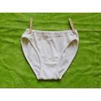 Dívčí spodní kalhotky  přírodní  128-140 nižší pas