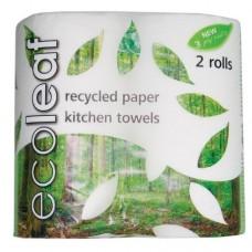 Ecoleaf -kuchyňské utěrky 2 role - doprodej