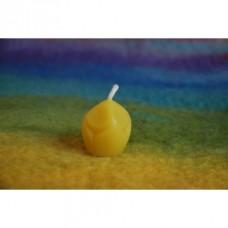 Odlévaná  svíčka ze včelího vosku Malá lucernička