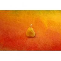 Odlévaná  svíčka ze včelího vosku Zvoneček