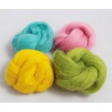 Ovčí vlna barvená Léto  malá  (4 barevy) - 20g