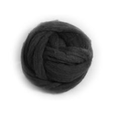 Ovčí vlna barvená malá - černá  20g