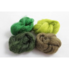 Ovčí vlna barvená  Prales  malá  (4 barvy) - 20g
