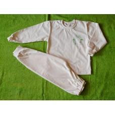 Pyžamo biobavlna čápi v zeleném vel. 104