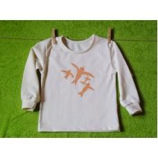 Tričko s dlouhým rukávem   biobavlna vlaštovičky
