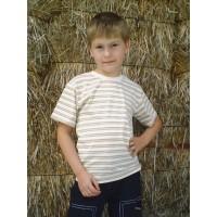 Tričko s krátkým  rukávem  přírodní proužky vel 92