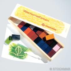 Bločky ze včelího vosku 24  ks v dřevěné krabičce, Stockmar