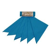 Kapesníky z biobavlněného saténu pánské – modrá (36×36 cm) 6 ks
