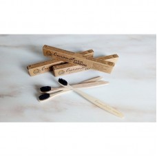Bambusový kartáček s bambusovými štětinami - extra měkký s aktivním uhlím