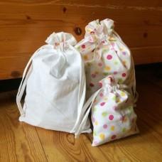 Sada pytlíků na balení dárků 3ks - bavlna