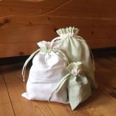 Sada pytlíků na balení dárků 3ks  - len